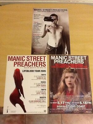 Manic Street Preachers-Three (3) Japanese Original Flyers-2005-2011-Rare-M/mint