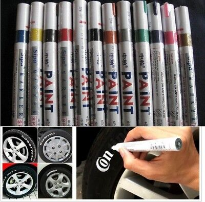 Waterproof Permanent Paint Marker Pen Car Tire Tyre Tread Rubber Metal Oil Based