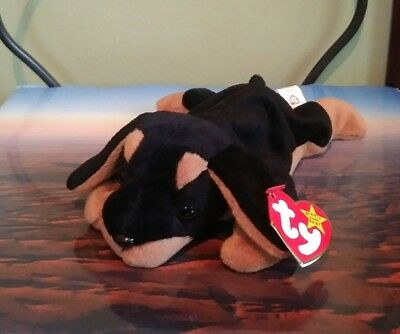 Ty Beanie Baby Doby the Doberman Retired 4th Generation 1996