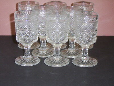 "Beautiful Set of 8 Anchor Hocking WEXFORD 2 Oz. Juice Cordial 4 1/2"" Glasses"
