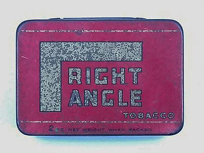 Rare Vintage 'Right Angle' Tobacco Tin