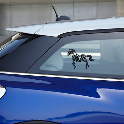 A horse galloping made with a decorative flowing pattern vinyl sticker
