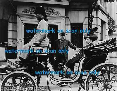 1912 B & W Photo~French Bulldog~Regal Woman~Fancy Carriage~NEW Large.Note Cards