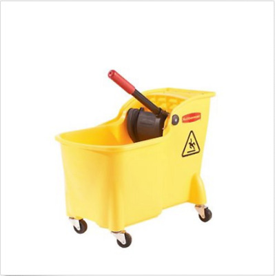Mop Bucket with Wringer on Wheel Roller Best Small Trolley Tile Cleaning NEW