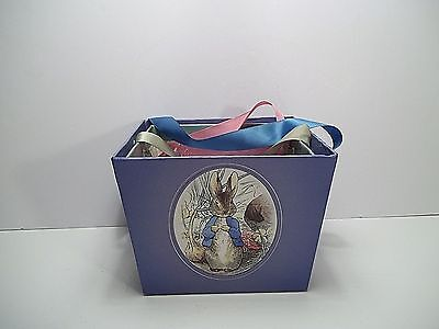 3 Peter Rabbit Containers  3 Sizes  Beautiful Classic Photos  Ribbon Handles