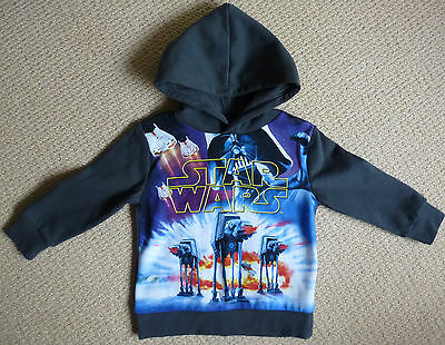 NWT Disney Star Wars Licensed Boys Hoodie Jumper with Hood Size 3