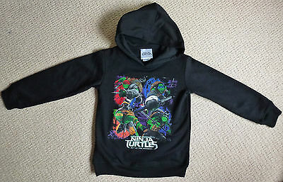 NWT Teenage Mutant Ninja Turtles Licensed Boys Hoodie Jumper with Hood Size 7