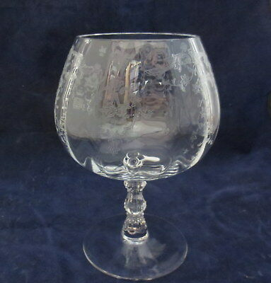 "Fostoria Clear Glass Navarre Brandy Snifter Goblet 5 5/8"" Tall  #2 of 2"