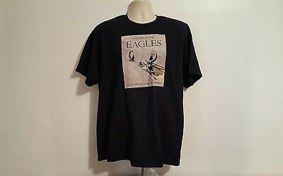 History of the EAGLES American Band Tour Adult Black XL TShirt