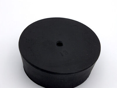 #13 Black Natural Rubber Laboratory Stoppers Size 13 1-hole STOPPER 1/pk RS-13H