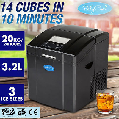 Portable Ice Cube Maker Machine 3.2L Quick Commercial Home Fast NEW