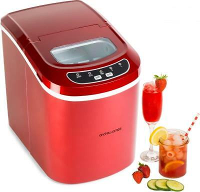 Red Ice Cube Maker Machine Counter Table Top Bar Drinks Cocktails 2017 HOT