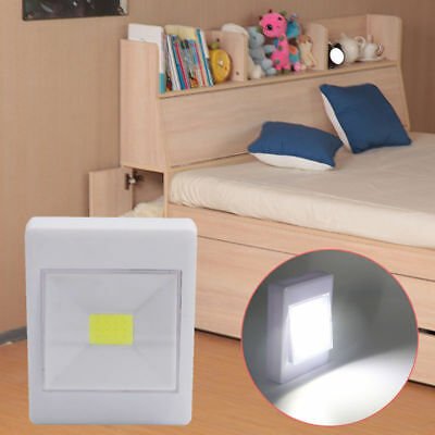 10Pack COB LED Wall Switch Wireless Closet Cordless Night Light Battery Operated