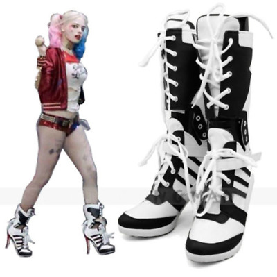 Hot New Batman Suicide Squad Harley Quinn Cosplay Shoes Anime Boots high Heel