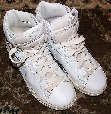 Vintage Nike Leather Basketball Shoes HIGH TOPS Youth Child Size 3