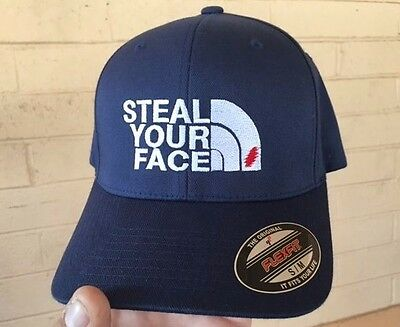 Grateful Dead Steal Your Face The North Face Embroidered Flexfit Ball Cap SM-XXL