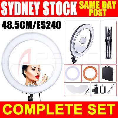 "19"" 5500K Dimmable Diva LED Ring Light with Diffuser Stand MIRROR Make Up Studio"