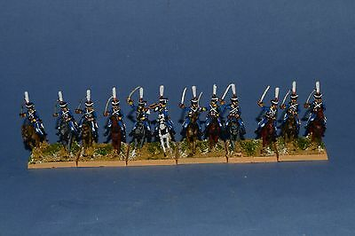 15mm Napoleonic painted Russian Hussar Rgt Ru07
