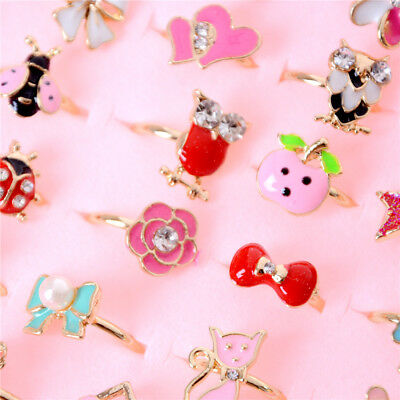 2X Fashion Adjustable Kids Sweet Alloy Rings Children Costume Jewelry Toy Gift H