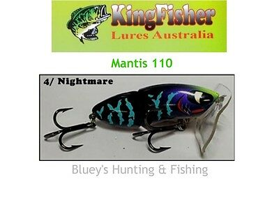 Kingfisher Mantis 110 mm articulated surface lure; 04 Nightmare