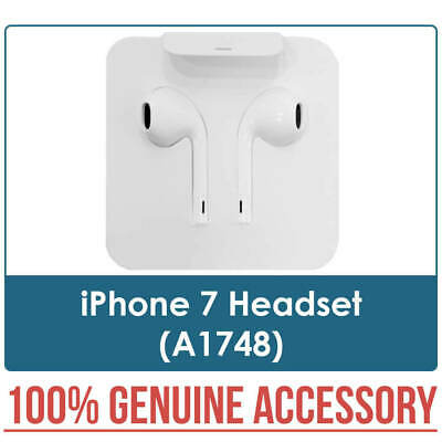 iPhone 7 EarPods Earphones Headset in White A1748 New Genuine