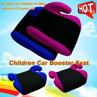 Safe Soft Sturdy Baby Kids Children Car Booster Seat Fit 3 To 12 Years Old OZ
