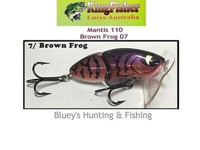 Kingfisher Mantis 110 mm articulated surface lure; 07 Brown frog
