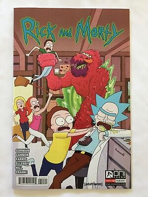 Rick & Morty #10 Marc Ellerby Incentive Variant Cover Oni Nm 1St Printing 2016