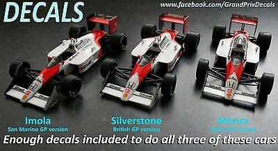 Formula 1 Car Collection Marlboro McLaren water slide decals MP4-4 F1 1:43