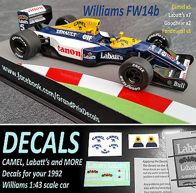 Formula 1 car collection Williams FW14B Decals Labatts Camel F1 1:43 Mansell IXO