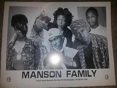 Manson Family - Tommy Wright Iii> Autograph Pic/memphis Rap