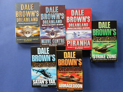 DALE BROWN'S DREAMLAND x 6 - ARMAGEDDON, SATAN'S TAIL, STRIKE ZONE ++ *LIKE NEW
