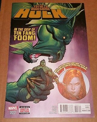 Totally Awesome Hulk #3 (2016) Main Cover 1st Appearance Kid Kaiju Marvel Cho