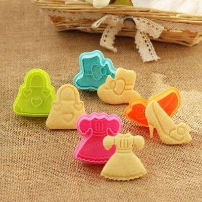 4pcs Fashion Lady Accessories 3D Silicone Cake Cookie Cutter Fondant Mold