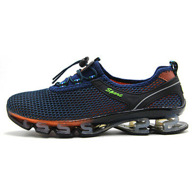 Mens Big Size Breathable Running Shoes Shock Absorb Light Walking Athletic Shoes
