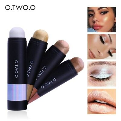 Gold Brown Highlighter Cosmetic Face Contour Brightener Shimmer Makeup Beauty