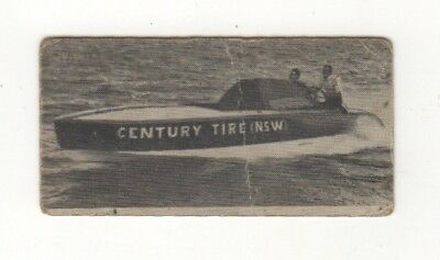 "Robert Walder in the ""Century Tire"" hydroplane probably Sydney Harbour, c1930"