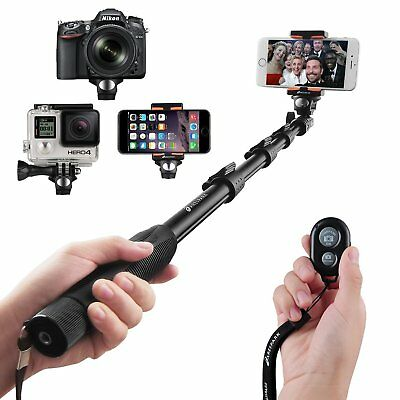 Selfie Stick Bastone con Bluetooth Wireless Remote per iPhone, Smartphone, GoPro