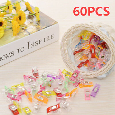 Cover Wonder 60pcs Plastic Clip Clamp Patchwork Sewing DIY Craft Quilt Binding
