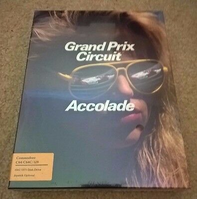 Grand Prix Circuit For Commodore 64/128, NEW FACTORY SEALED, Accolade