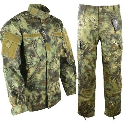 Mens Acu Ripstop Outfit Trousers Shirt Raptor Jungle Camo Paintballing Airsoft