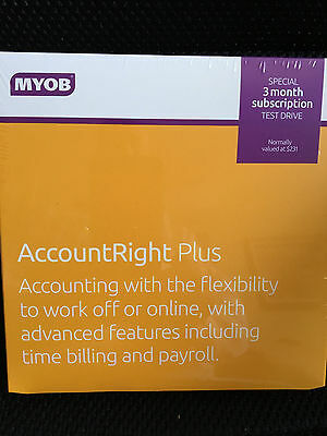 MYOB Accountright Plus 3 Month License