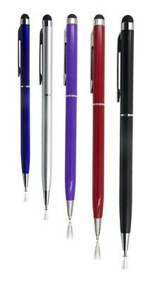 5 x  2 in 1 STYLUS INK BALL POINT PEN FOR IPHONE IPAD TABLET SAMSUNG HTC ETC