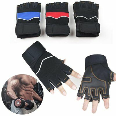 Weight Lifting Gloves Training Gym BodyBuilding Fitness Workout Straps