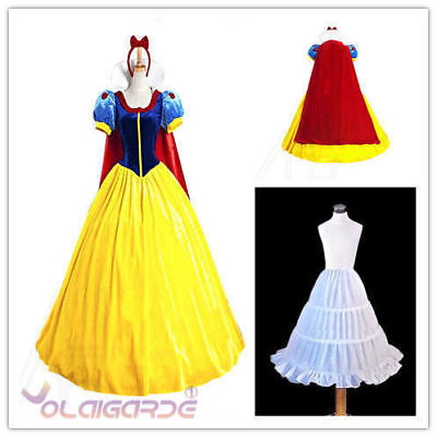 Adult Womens Snow White Princess Costume Christmas Cosplay Fairytale Fancy Dress