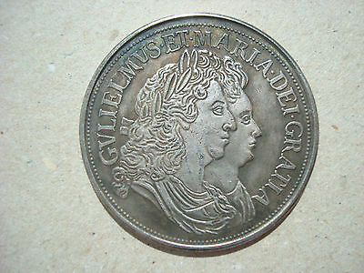 Crown 1691 William and Mary 5 Shilling British England Great Britain UK