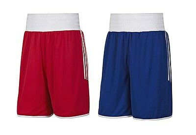 NEW Adidas Boxing Shorts - Reversible Red/Blue Boxing Shorts AIBA Boxing Shorts