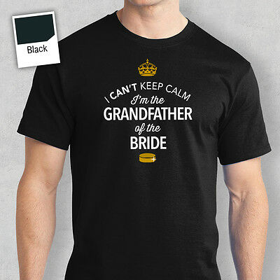 Grandfather Of The Bride Funny Tshirt Wedding Gift Stag Do Night Bachelor Party