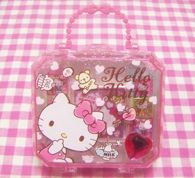 Sanrio Hello Kitty 8 Designs Stamp with Cute Case Set / Japan 2017