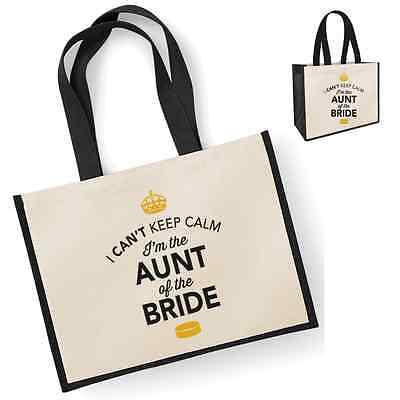 Aunt of Bride Gift Idea Wedding Party Bridal Bag Handbag Hen Party Present